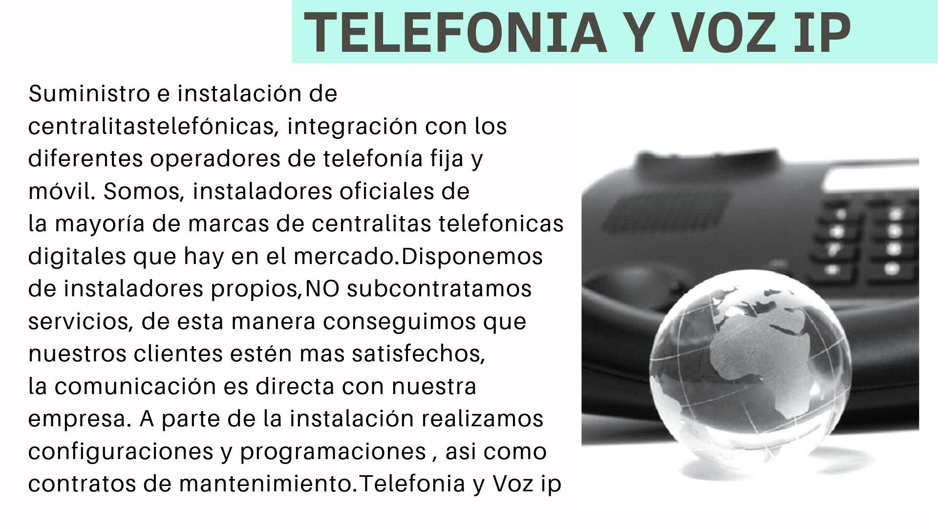 TELEFONIA Y VOZ IP CENTRALITAS
