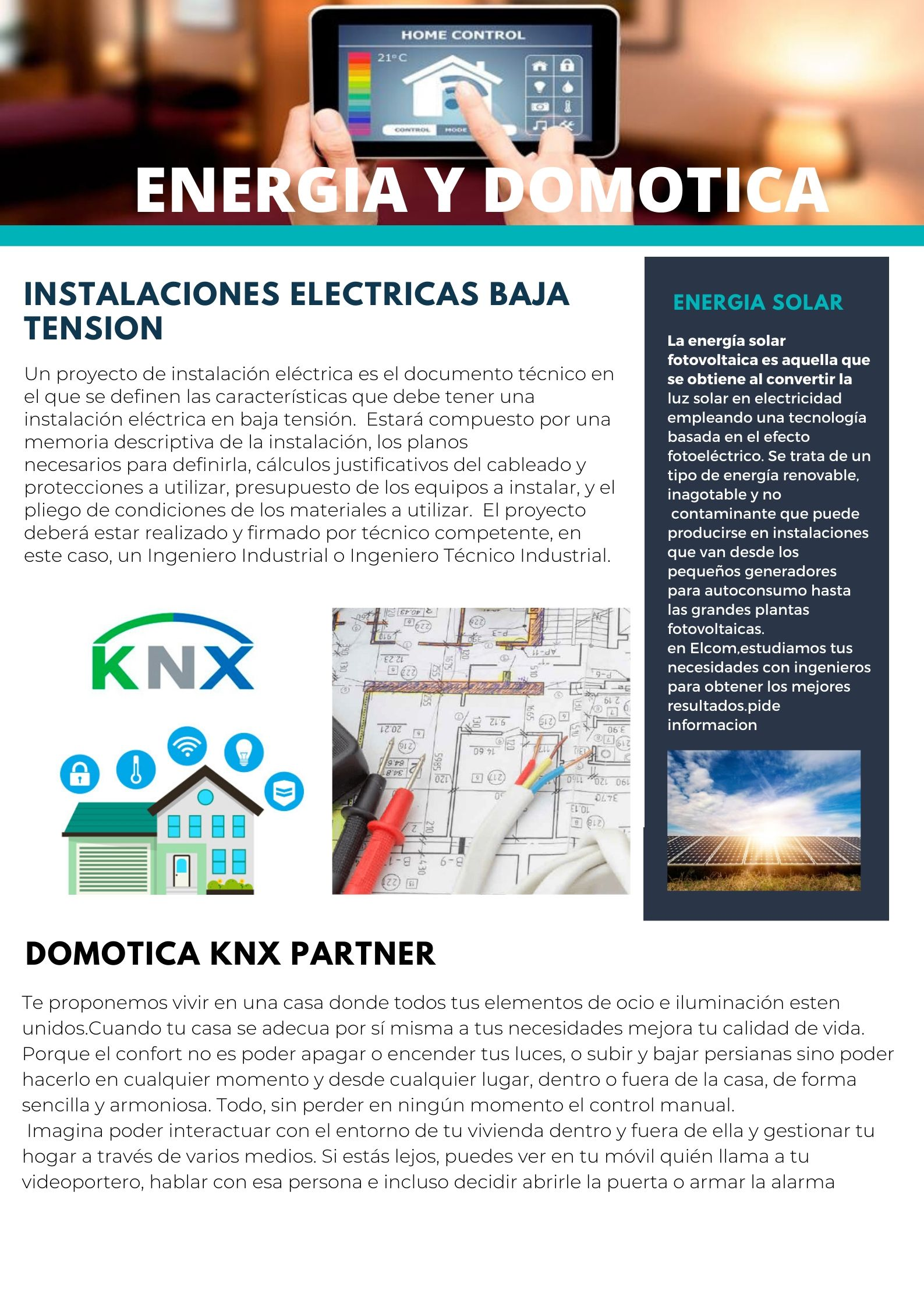 ENERGIA Y DOMOTICA ELCOM