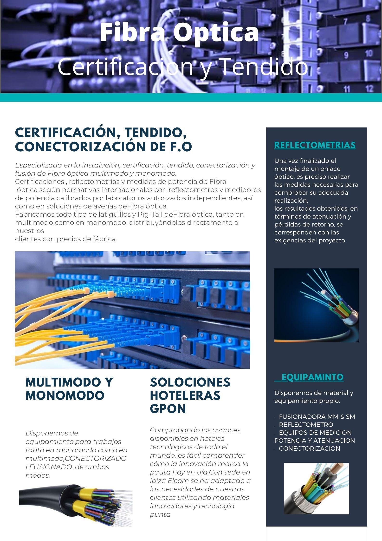 FIBRA OPTICA ELCOM